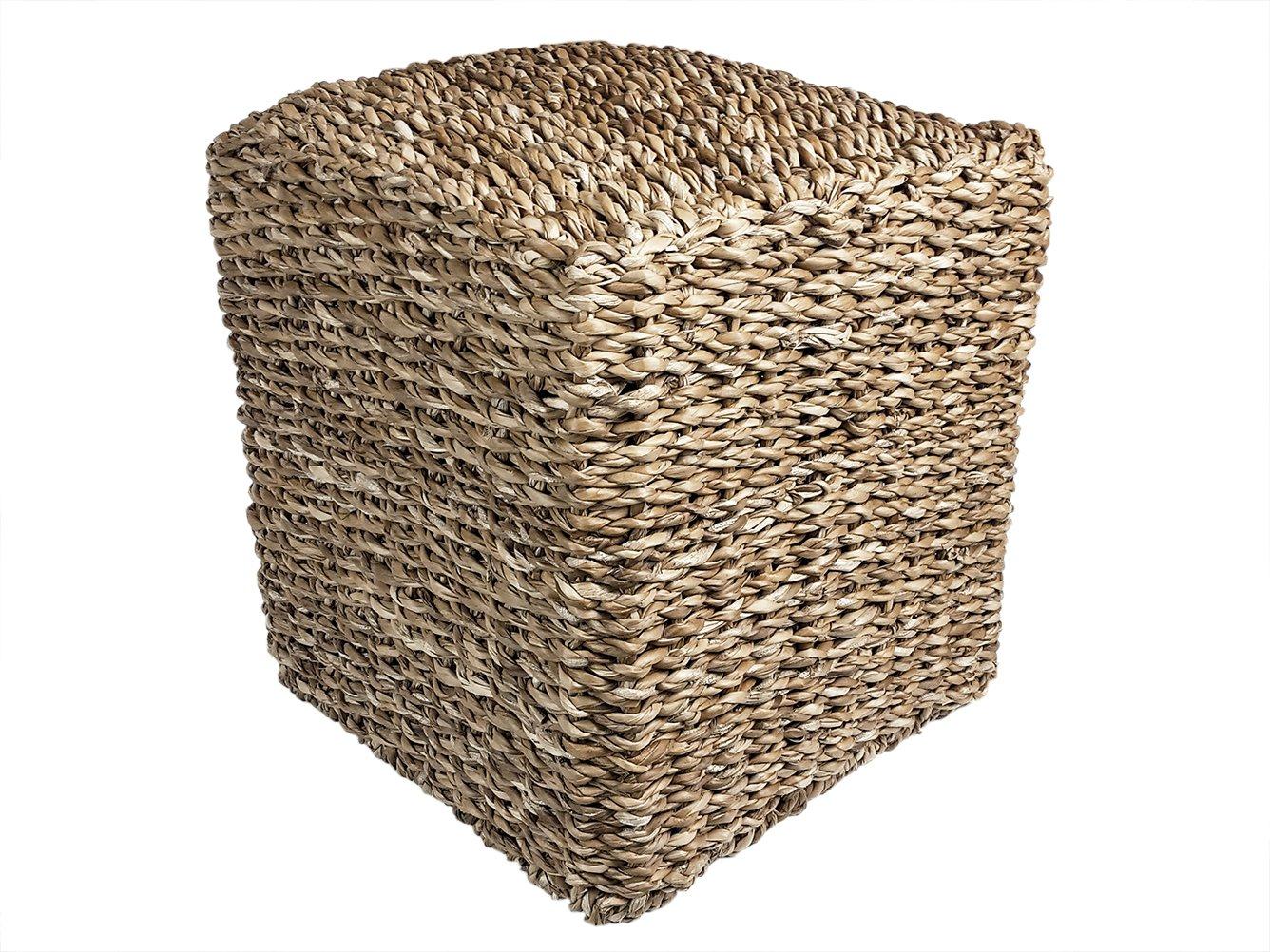 Fair Fair Fair Trade Korbwaren Taburete de Hogla de Fibra ndash; Comercio Justo ndash; Lounge Taburete ndash; Diferentes tamantilde;os, 45 cm a28810