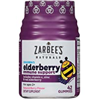 Zarbee's Naturals Children's Elderberry Immune Support* with Vitamin C & Zinc, Natural...