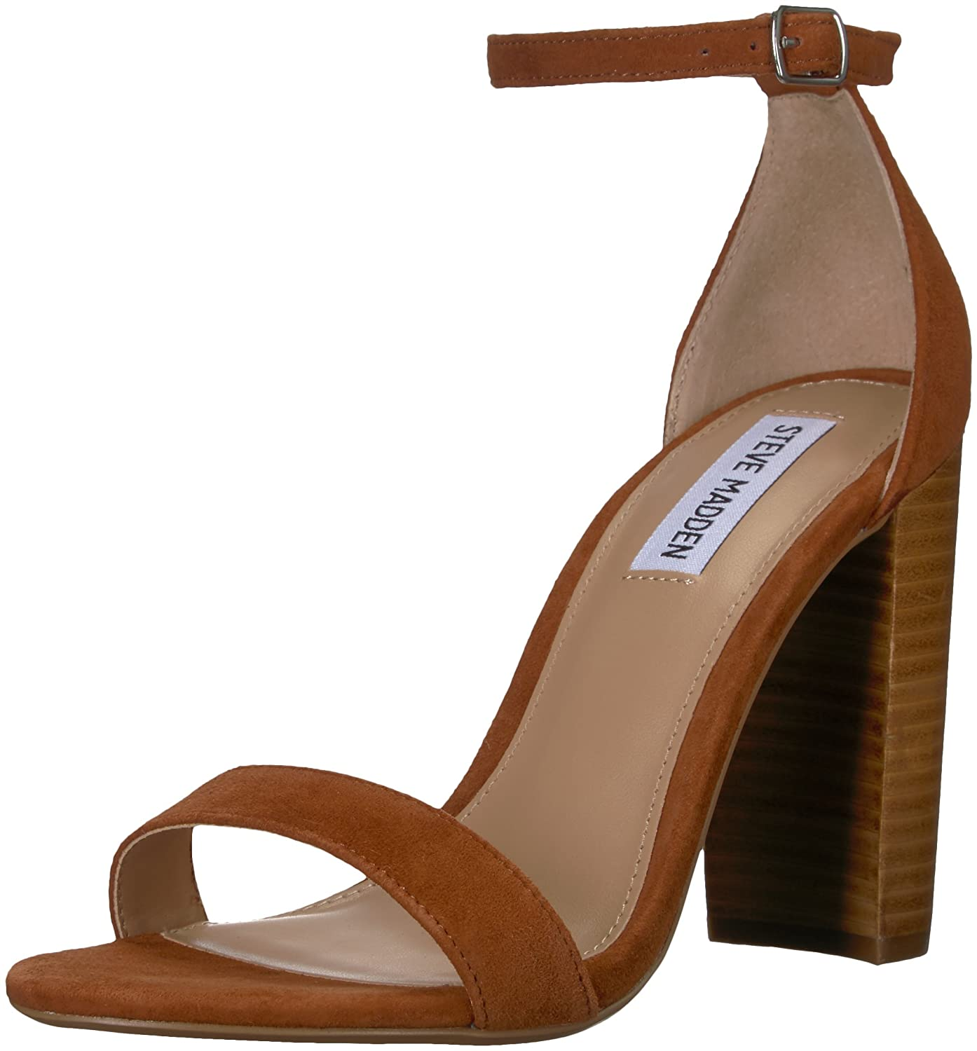 Steve Madden Women's Carrson Dress Sandal B07BLJH9SN 7 B(M) US|Chestnut Multi