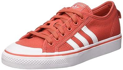 promo code 29cdc 7782a adidas Nizza J, Chaussures de Basketball Mixte Enfant, Rouge  (Trascaftwwhtftwwht), 36