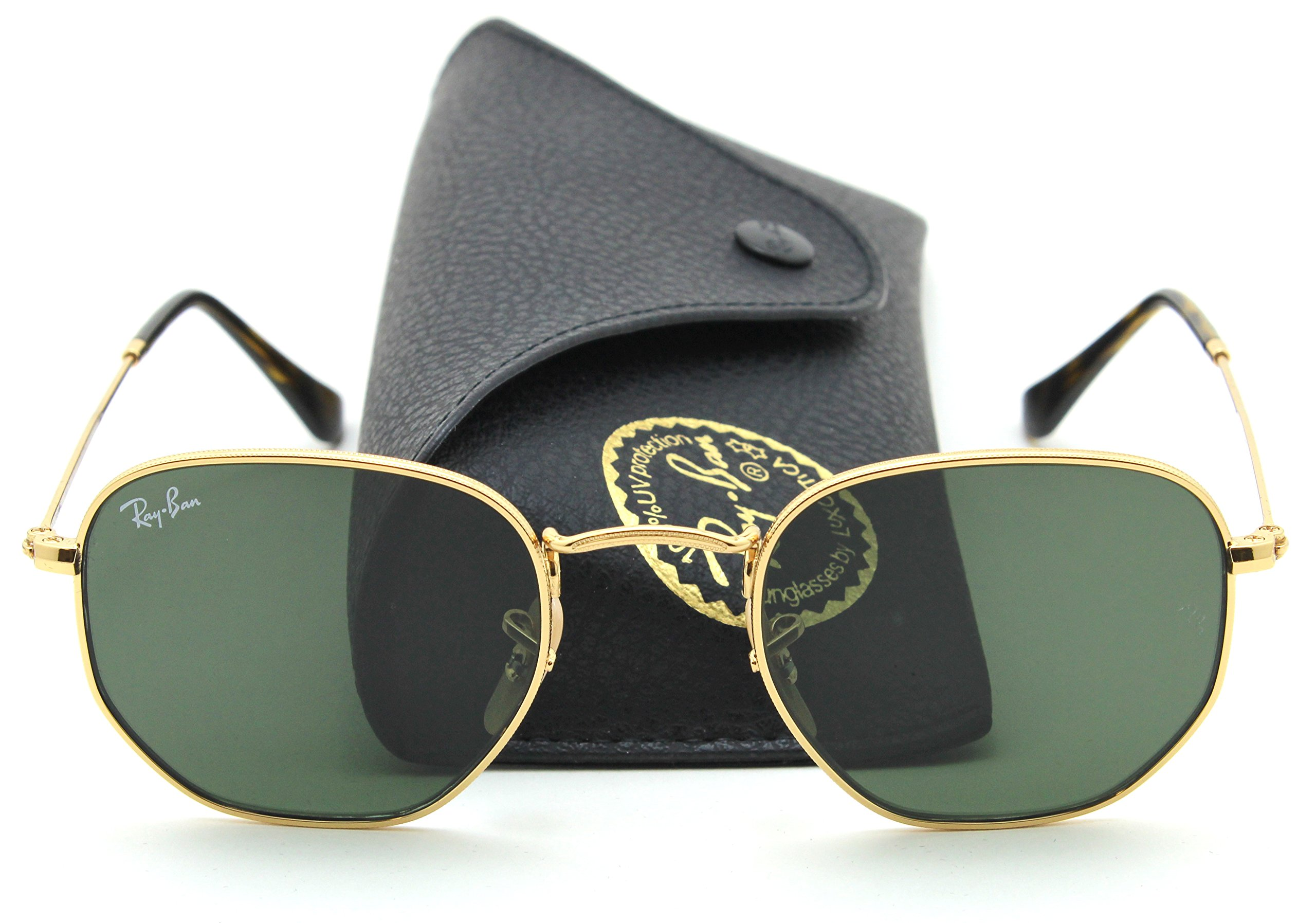 Ray-Ban RB3548N HEXAGONAL FLAT LENSES Sunglasses 001, 48mm