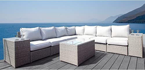 Living Source International Chelsea Collection Outdoor Seating Aluminium Frame Furniture
