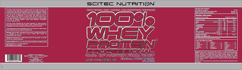 Scitec Nutrition Whey Protein Professional proteína vainilla-frutas del bosque 920 g
