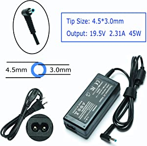 19.5V 2.31A 45W AC Laptop Charger for HP Laptop Pavilion x360 15-f272wm 15-f305dx 15-f387wm 15-f271wm P/N:HSTNN-DA40 741727-001 740015-003 Power Supply Cord