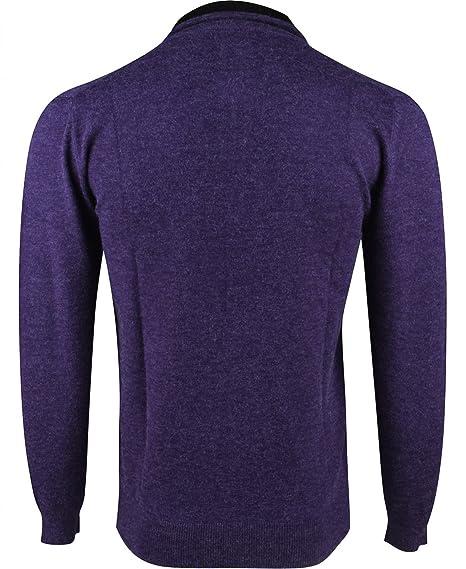 Yves Enzo - Pull col Camionneur - Homme - Violet  Amazon.fr  Vêtements et  accessoires f1adee812300