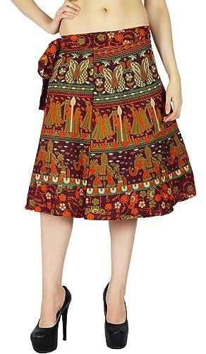 Algodón Impresa Una Sola Capa Falda Del Abrigo Más El Tamaño De Vestido De Pareo