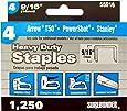 Surebonder 55916 Heavy Duty 9/16-Inch Length Staples, Arrow T50 Type, 1250 Count