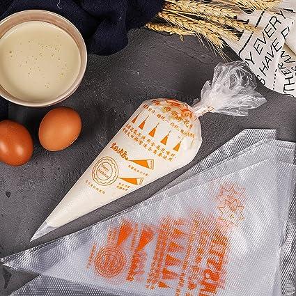 Malayas 100pcs Bolsas de Pastelería Mangas Pastelera Bolsas Desechables para Decoración de Pasteles y Galletas Tamaño M