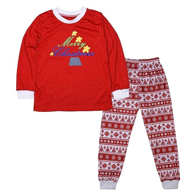 BOZEVON Conjunto de Pijamas Familiares de Navidad - Ropa Familiar a Juego para la Familia Padre