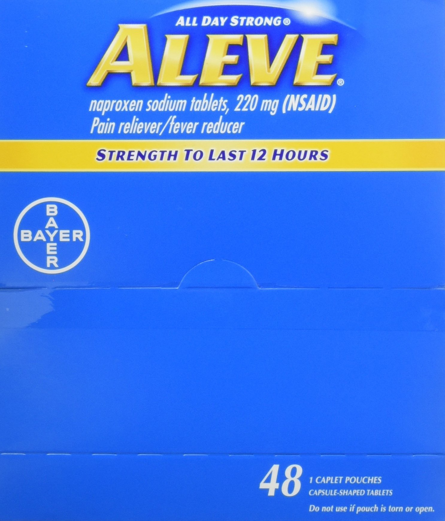 Aleve All Day Strong Naproxen Sodium Tablets 220 Mg - 1 Ea (48 Pack)