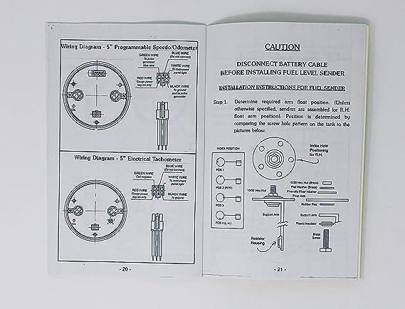 tachometer sender schematic, amazon com: dolphin gauges 1947 1948 1949  1950 1951 1952 1953 chevy on stewart