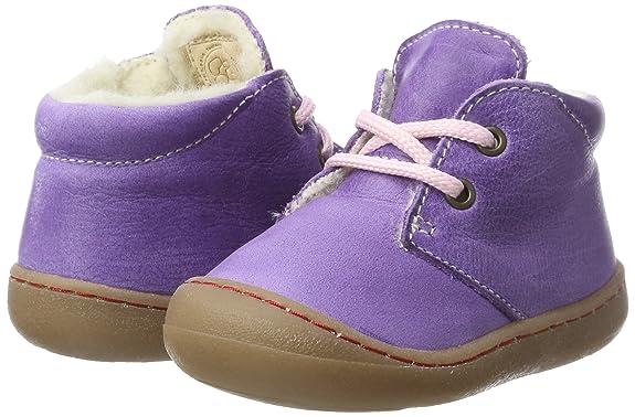 Pololo Juan Wollfleece - Zapatos de Cordones para Niñas, Color Morado (Lilac 5221), Talla 20