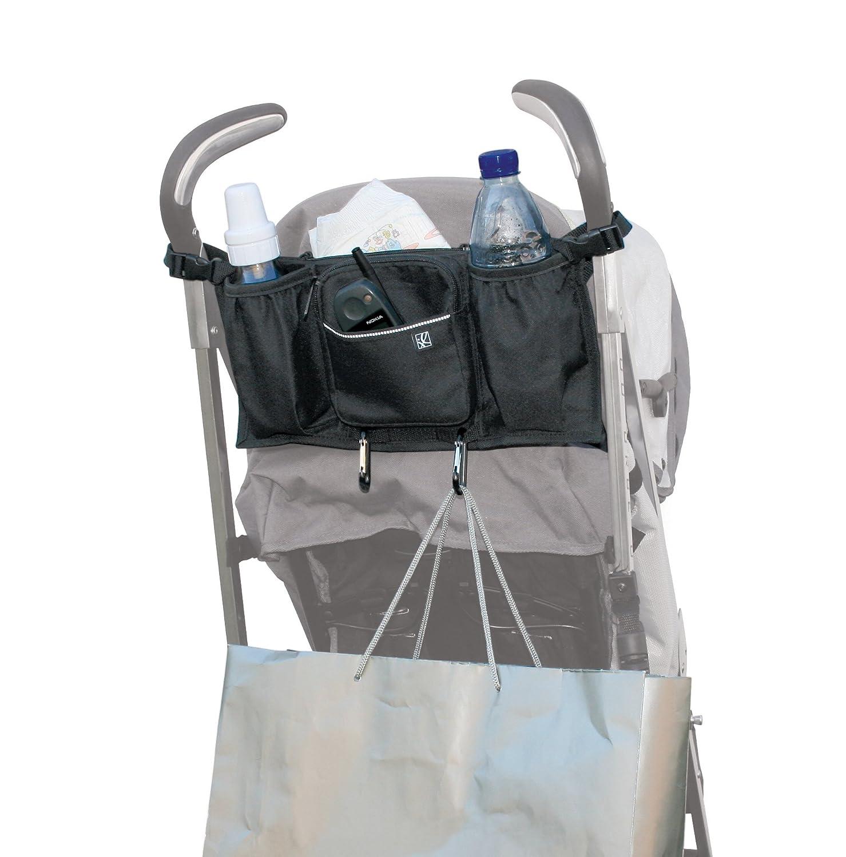 JL Childress Bottles 'N Bags Stroller Organiser for Newborn and Above (Black) 2909BLK