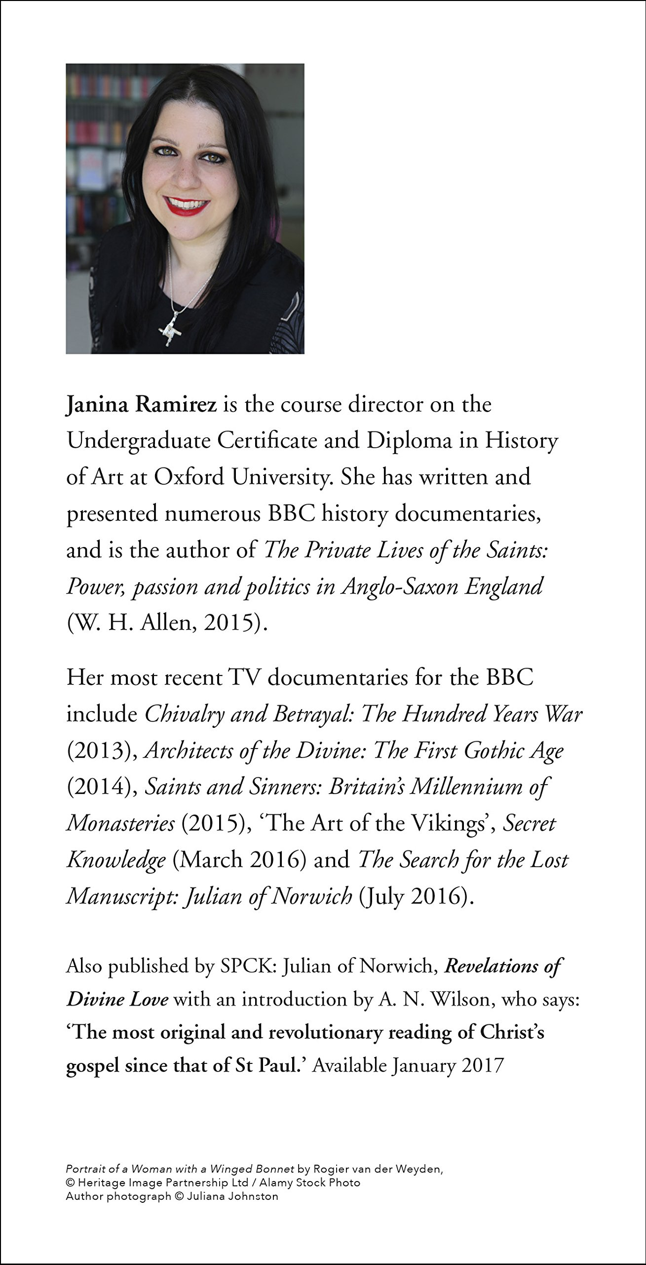 Julian of norwich a very brief history amazon co uk dr janina ramirez 9780281077373 books
