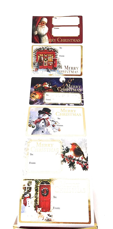 Tallon Christmas Collection-Gold Foiletichetta adesiva confezione da 100 pezzi