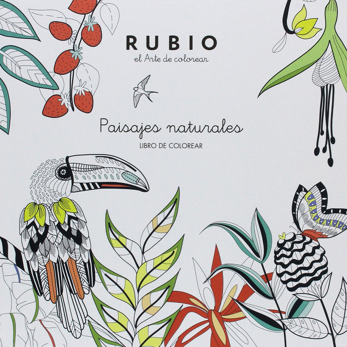 LIBRO COLOREAR ADULTOS: PAISAJES NATURALES: Amazon.es: RUBIO POLO ...