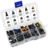 HSeaMall 190 PCS Coloré Tactile Bouton-Poussoir Micro Momentanée Tact Assortiment Kit 10Value
