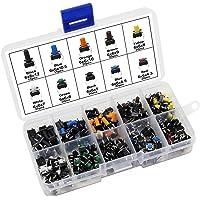 HSeaMall 190 st färgglada taktila tryckknappsbrytare, beröringsbrytare, mikro, industriell tillfällig omkopplare, 10…