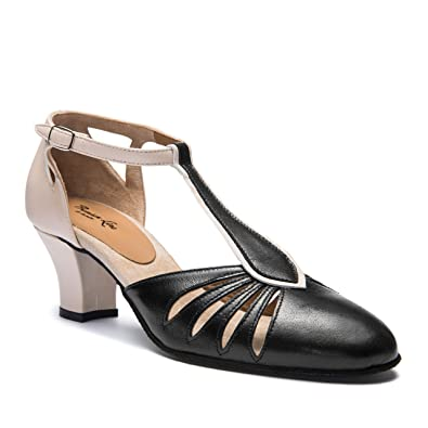 332ab302259419 9210 Rumpf Ladies Dance Shoes Balboa Latin Salsa Rumba Tango Ballroom Shoes  Leather Upper Suede Sole 2´´ Heel Made in Italy!  Amazon.co.uk  Shoes   Bags