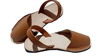 bf81309222cb Simple Spaniard Avarcas Brown Leather Sandals (US 6)