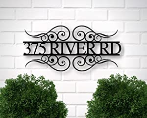 Tamengi Metal Address Sign for House, Address Plaque, House Number Plaque, Metal Address Numbers, Address Plaque, Front Porch Decor, Metal Signs