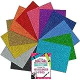 Siser Glitter Heat Transfer Vinyl Assorted Starter Bundle 12 Top Color Sheets - 12 Inch x 20 Inch