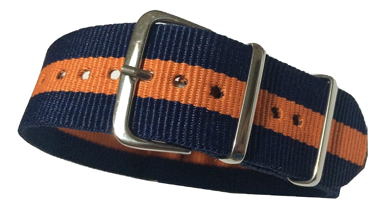 trendyluz Watchバンド:選択色と幅( 20 mmまたは22 mm、ナイロンバンドストラップwith 4スプリングバー B01EWA67AK 20 mm 2Blue,Orange 2Blue,Orange 20 mm