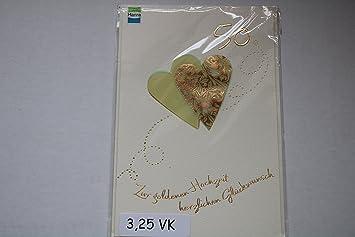 Goldene Hochzeit Glückwunschkarte Geschenkkarte Zur