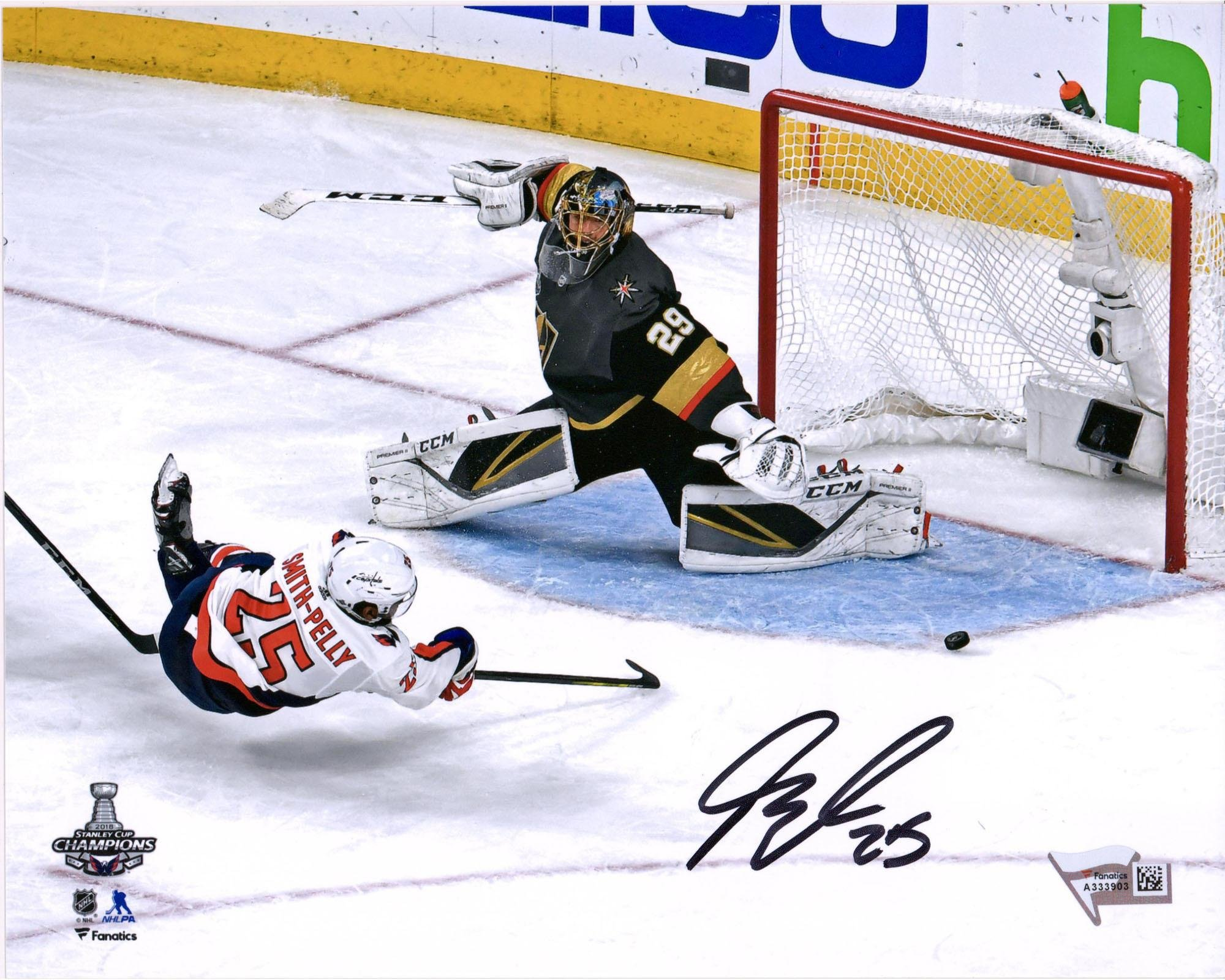 """Devante Smith Pelly Washington Capitals 2018 Stanley Cup Champions Autographed 8"""" x 10"""" Game Tying Goal Photograph Fanatics Authentic Certified"""
