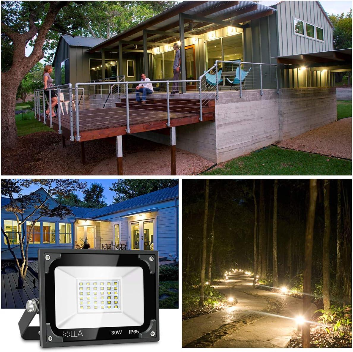 Luces de Seguridad 30W, Foco LED Súper Brillante de 2400 Lúmenes ...