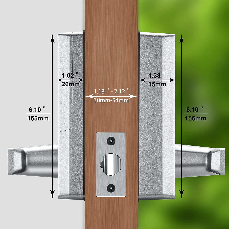 . Zinc Alloy Smart Keyless Door Lock with Bluetooth Digital Keypad Password Door Locks for Office Home+5 pcs RFID Cards