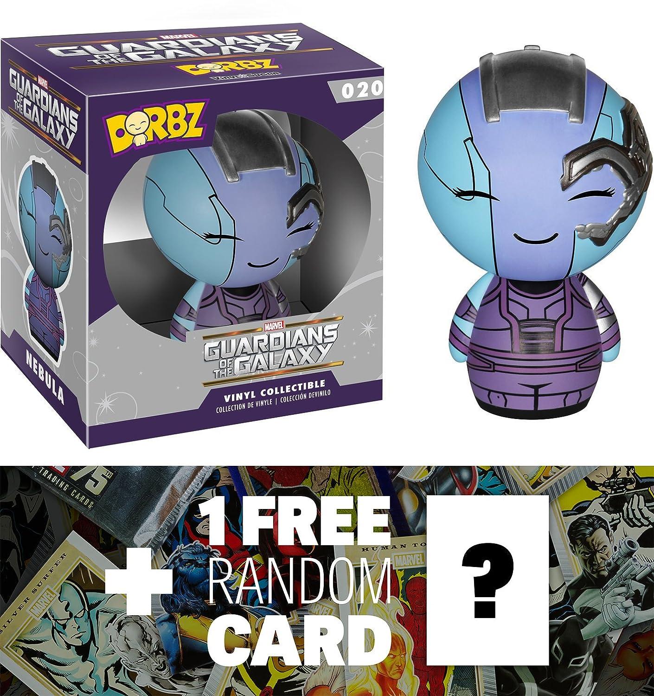 1 FREE Official Marvel Trading Card Bundle Nebula 59439 Funko Dorbz x Guardians of the Galaxy Mini Vinyl Figure