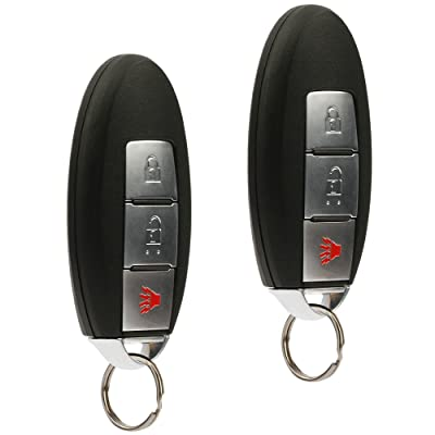 Smart Key Fob Keyless Entry Remote fits 2007-2012 Nissan Pathfinder / 2008-2013 Rogue / 2007-2012 Versa (CWTWBU729), Set of 2: Automotive