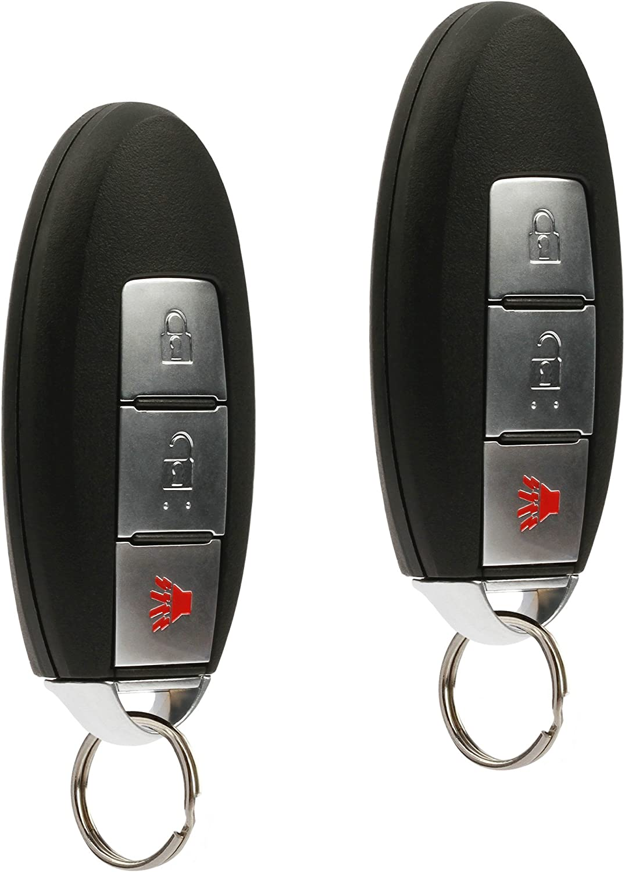 Smart Conversion Key Fob Keyless Entry Remote fits Nissan Frontier Armada Murano Pathfinder Quest Sentra Titan Versa Xterra//Infiniti QX4 FX35 FX45 KBRASTU15