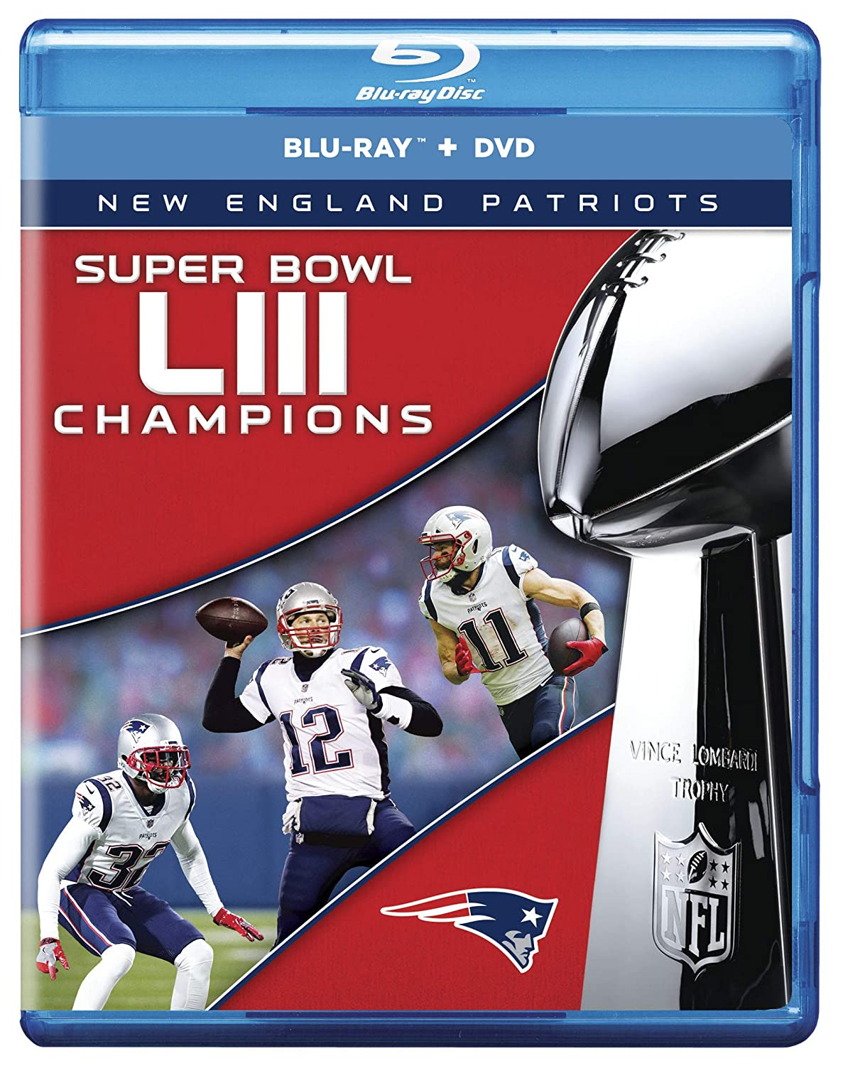 e9f983b11 Amazon.com  NFL Super Bowl LIII - New England Patriots  Blu-Ray Combo  Pack   Nfl