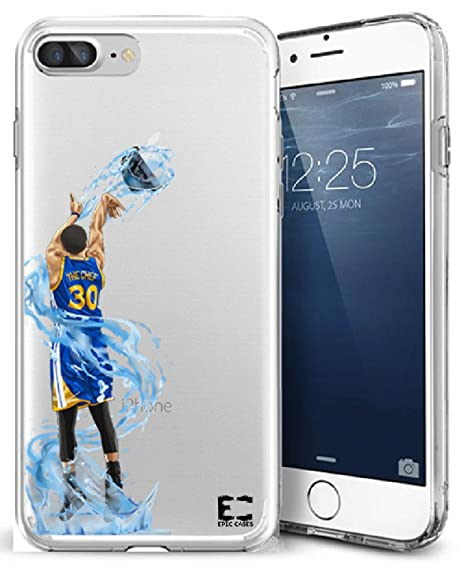 size 40 7decf aae2c Epic Cases iPhone 7 Plus Case, for Apple iPhone, Ultra Slim Transparent  Dominate the Basketball Court Series - The Chef, Clear (iPhone 7 Plus)