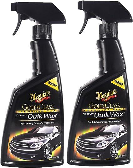 Meguiar S 2x Meguiars Gold Glass Carnauba Plus Quik Wax Sprühwachs 473 Ml Auto