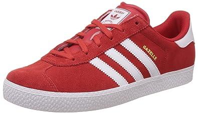 adidas Gazelle 2 J, Chaussures de Sport Mixte Bébé, Rouge/Blanc (Rojexu