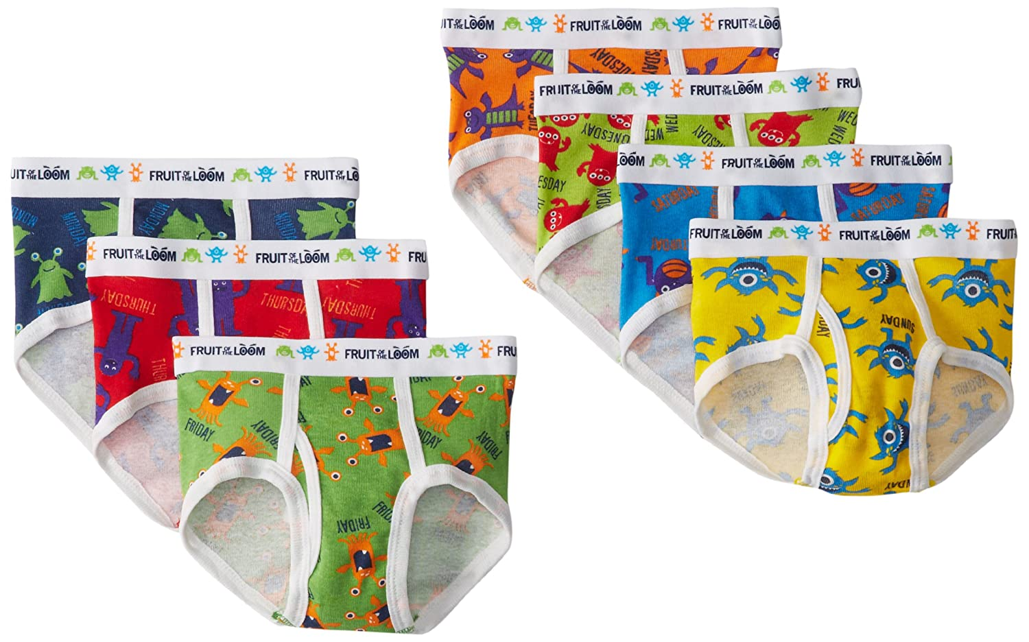Fruit of the Loom Toddler Boys' Days of the Week Brief (Pack of 7) Fruit of the Loom Boys 2-7 7P801PT