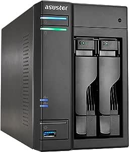 ASUSTOR AS6302T, 2 Bay NAS (Diskless) Intel Celeron Dual-Core 2.0GHz Processor, 2GB DDR3L RAM