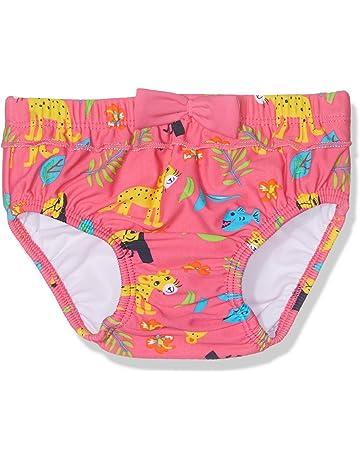 1cb421193 Playshoes Badewindel Blumenmeer Mit UV-Schutz pañal de natación para Bebés.  Tube Rider pañal de natación Bebé-Niñas