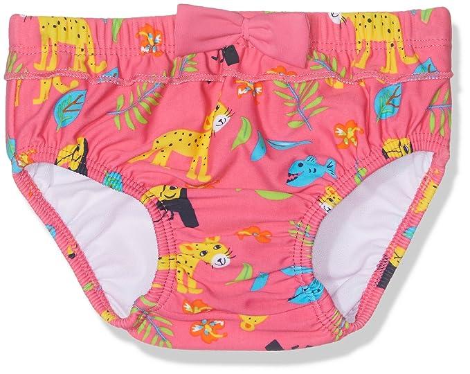Tube Rider UV, pañal de natación Bebé-Niñas, Rosa (Carmine Rose 17