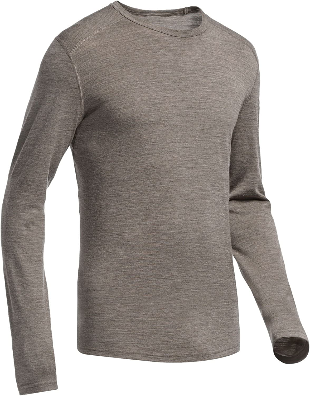 Icebreaker Herren Shirt Unterhemd langarm Oasis Long Sleeve Crewe Stripe