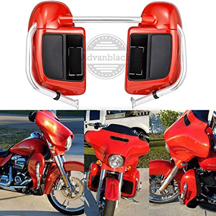 Trend Mark Motorcycle Lower Vented Leg Fairings Glove Box For Harley Touring Electra Street Glide Road King Road Street Glide 1983-2013 Frames & Fittings Covers & Ornamental Mouldings