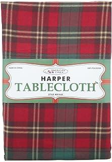 American Linen Harper Tablecloth Christmas Plaid (52u0027x 70u0027)