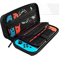 YanYoung Compatible with Nintendo Switch Case with Screen Protector, Tup Protective Accessories Cover Case Nintendo…