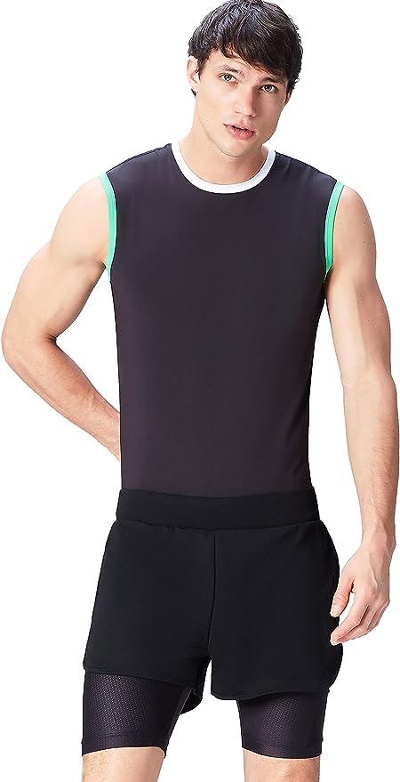 TALLA S. Activewear, Pantalón de Deporte con Mallas Incorporadas Para Hombre