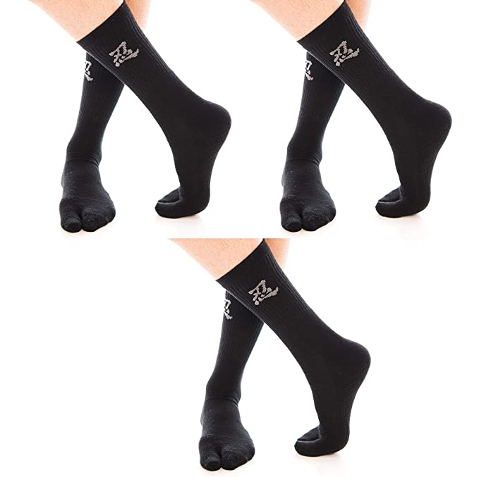 Amazon.com: 3 pares v-toe flip-flop calcetines Tabi dedo ...
