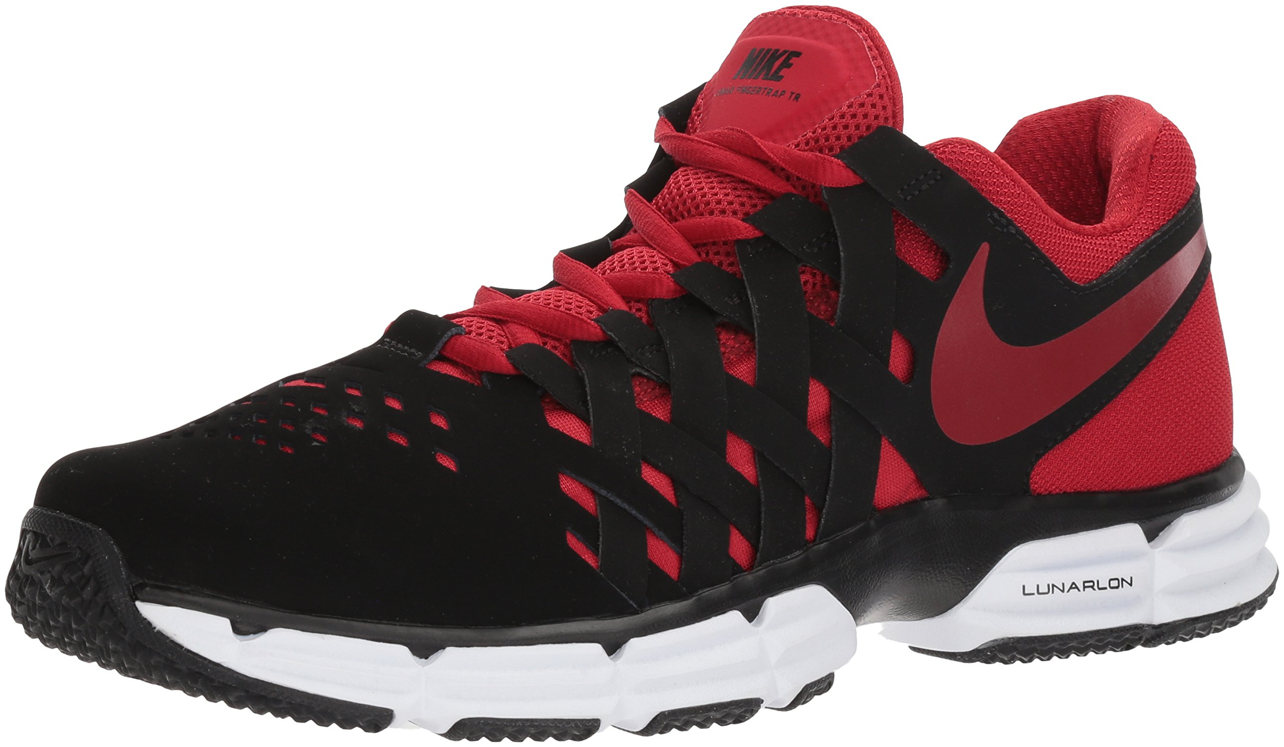 Nike Men's Lunar Fingertrap Cross Trainer, Black/Gym red, 8.5 Regular US
