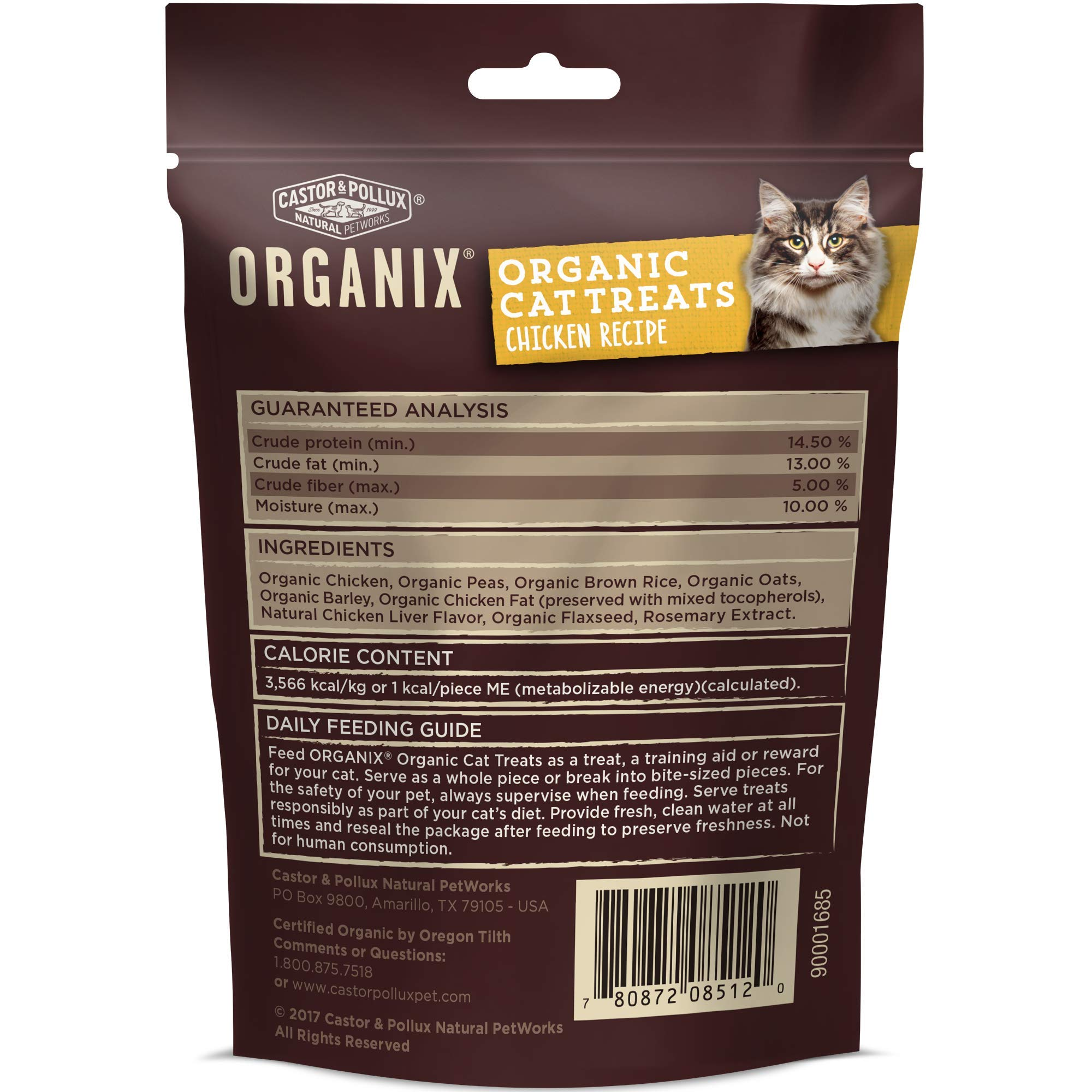 Castor & Pollux Organix Chicken Flavored Cat Treats, 2 Ounce Packages (Pack Of 12) by Castor & Pollux (Image #1)